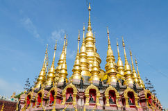 Golden pagoda at Wat Phra That Su Thon Mongkhon Khiri Samakkhi Royalty Free Stock Image