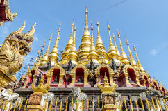 Golden pagoda at Wat Phra That Su Thon Mongkhon Khiri Samakkhi Royalty Free Stock Photo