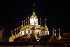 Golden pagoda in Wat Ratcha Nadda Temple. Bangkok , Thailand - Sep 21, 2017: Golden pagoda in Wat Ratcha Nadda Temple Stock Photos