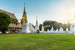 The golden pagoda at Wat Suan Dok, Chiangmai, Thailand Stock Photography