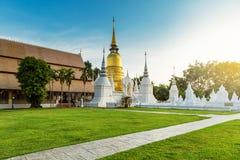 The golden pagoda at Wat Suan Dok, Chiangmai, Thailand Stock Image