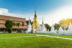 The golden pagoda at Wat Suan Dok, Chiangmai, Thailand Stock Images