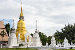 The golden pagoda at Wat Suan Dok. Stock Image