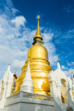 Golden pagoda wat suandok chiangmai Thailand Royalty Free Stock Photography