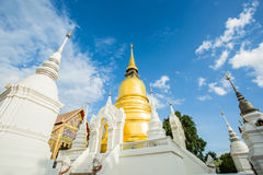 Golden pagoda wat suandok chiangmai Thailand Royalty Free Stock Photos