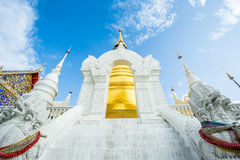 Golden pagoda wat suandok chiangmai Thailand Royalty Free Stock Photo