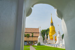 Golden pagoda in wat suandok temple, Chiang mai, Thailand Royalty Free Stock Images