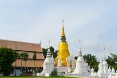 Golden pagoda in wat suandok temple, Chiang mai, Thailand Stock Photo