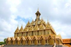 Golden pagoda at Wat Tha Sung Temple Stock Image
