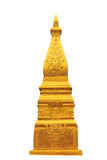 Golden pagoda in white isolate Royalty Free Stock Photography