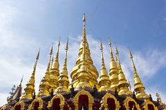Golden pagodas Royalty Free Stock Photos