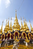Golden pagodas Stock Photo
