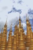 Golden pagodas Royalty Free Stock Photo
