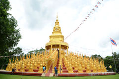 500 golden pagodas Royalty Free Stock Image