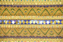 Golden Thai Style Pattern On Wall Stock Photo Image Of