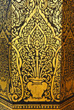 Golden painting in Thai temples. Thai temples in Northern Of Thailand Royalty Free Stock Photography