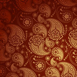 Golden Paisley Background Stock Photo