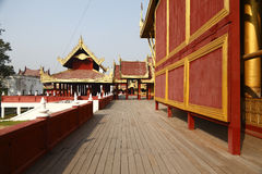 Golden Palace. The Golden Palace is in the center of Mandalay Palace in Mandalay, Myanmar stock photography