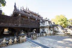 Golden Palace Monastery Shwenandaw Kyaung Stock Image