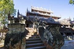 Golden Palace Monastery Shwenandaw Kyaung Royalty Free Stock Photo
