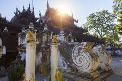 Golden Palace Monastery Shwenandaw Kyaung Royalty Free Stock Photography