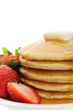 Golden pancakes Stock Image