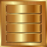 Golden panel. With four banners Royalty Free Stock Photos
