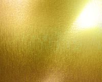 Golden panel. With some highlights and shades on it Royalty Free Stock Photography