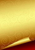 Golden Paper Royalty Free Stock Photography