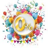 Golden Paper Circle Balloons Confetti 0 Percent Stock Image