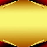 Golden Paper with curled edges. For designers Stock Photos