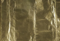 Golden paper foil. Stock Image