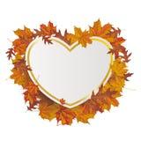 Golden Paper Heart Autumn Foliage Stock Photo