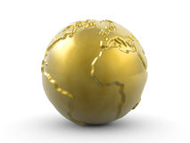 Golden paperweight Stock Photography