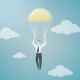 Golden parachute of chief executive officer Royalty Free Stock Images