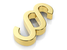 Golden paragraph symbol Royalty Free Stock Images