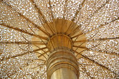 Golden parasol in a buddhist temple Royalty Free Stock Photography