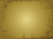 Golden parchment Stock Photography