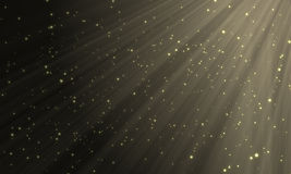 Golden particles Royalty Free Stock Photography