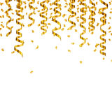 Golden Party Streamers Royalty Free Stock Photo