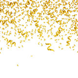 Golden Party Streamers Stock Photos