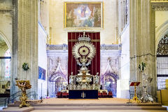 Golden Paseo Madonna Statue in Sevi Royalty Free Stock Photography