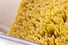 Golden Pasta Stock Image
