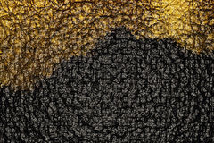 Golden patch on the black Royalty Free Stock Photo