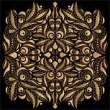 Golden pattern. On the black background Royalty Free Stock Photography