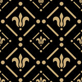 Golden pattern on dark damask background Royalty Free Stock Image