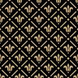 Golden pattern on dark damask background Stock Photos