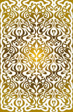 Golden pattern with floral ornament Stock Photography