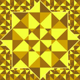 Golden pattern of geometric shapes. Gold mosaic backdrop.  Gold Royalty Free Stock Photography