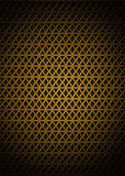 Golden pattern. Metal golden pattern with triangles shapes Royalty Free Stock Photography